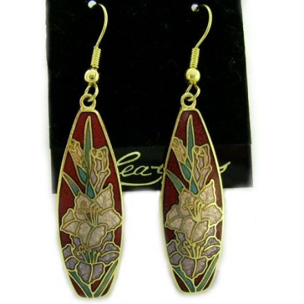 Cloisonne Hook Earrings SE11